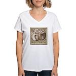 Stone Homer Pigeons Women's V-Neck T-Shirt