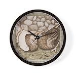 Stone Homer Pigeons Wall Clock