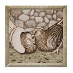 Stone Homer Pigeons Tile Coaster