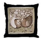 Stone Homer Pigeons Throw Pillow