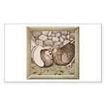 Stone Homer Pigeons Rectangle Sticker 50 pk)