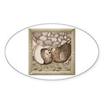 Stone Homer Pigeons Oval Sticker (50 pk)