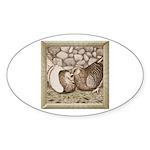 Stone Homer Pigeons Oval Sticker (10 pk)