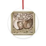 Stone Homer Pigeons Ornament (Round)