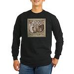 Stone Homer Pigeons Long Sleeve Dark T-Shirt