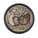 Stone Homer Pigeons Large Wall Clock