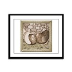 Stone Homer Pigeons Framed Panel Print