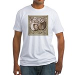 Stone Homer Pigeons Fitted T-Shirt