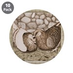 """Stone Homer Pigeons 3.5"""" Button (10 pack)"""