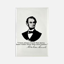 Abraham Lincoln Mercy Quote Rectangle Magnet
