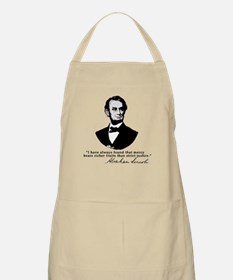 Abraham Lincoln Mercy Quote BBQ Apron