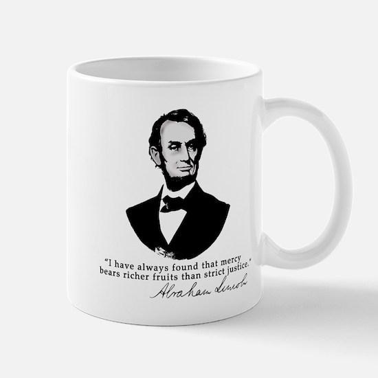 Abraham Lincoln Mercy Quote Mug