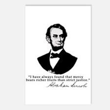 Abraham Lincoln Mercy Quote Postcards (Package of