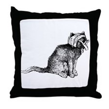 Wounded Kitty Throw Pillow
