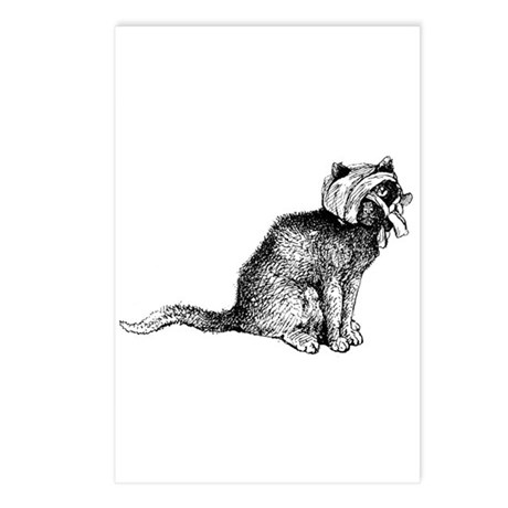 Wounded Kitty Postcards (Package of 8)