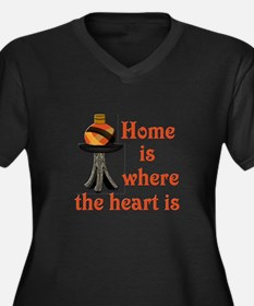 Home is where the heart is Women's Plus Size V-Nec
