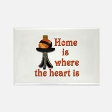 Home is where the heart is Rectangle Magnet