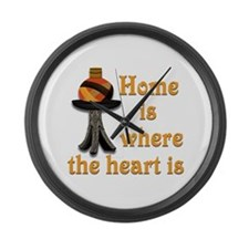 Home is where the heart is #2 Large Wall Clock