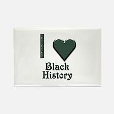 I Love Black History Rectangle Magnet