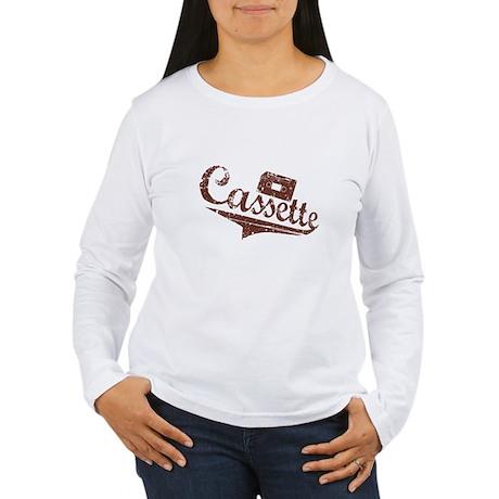"""Old Times"" Cassette Women's Long Sleeve T-Shirt"
