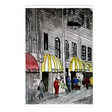 cityscape pen and ink illustr Postcards (Package o