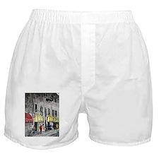 cityscape pen and ink illustr Boxer Shorts