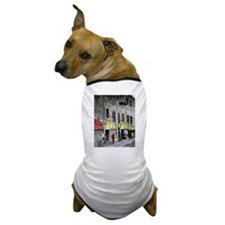 cityscape pen and ink illustr Dog T-Shirt