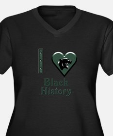 I Love Black History with Black Panther Women's Pl