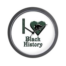 I Love Black History with Black Panther Wall Clock