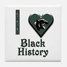 I Love Black History with Black Panther Tile Coast