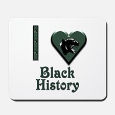 I Love Black History with Black Panther Mousepad