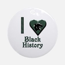 I Love Black History with Black Panther Ornament (