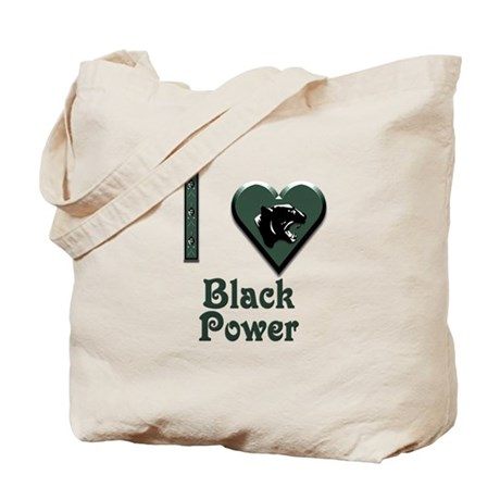 I Love Black Power Tote Bag