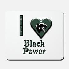 I Love Black Power Mousepad