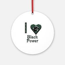 I Love Black Power Ornament (Round)