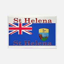 St Helena Rectangle Magnet