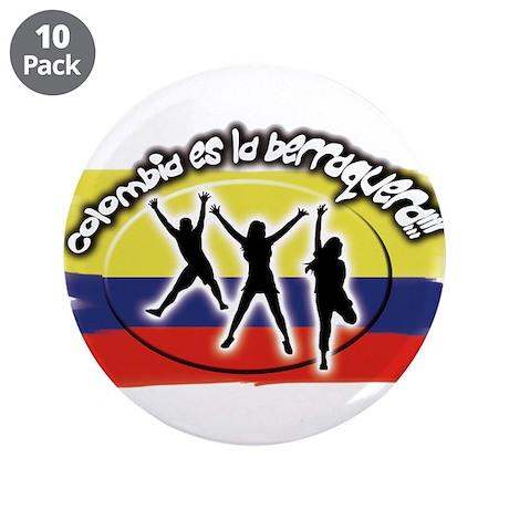 """Colombia es la berraquera 3.5"""" Button (10 pac"""