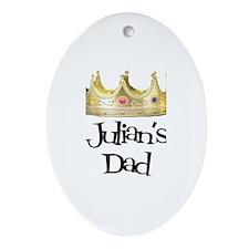 Julian's Dad Oval Ornament