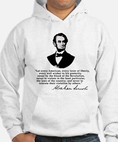 Remarkable Lincoln Law of the Land Quote Hoodie
