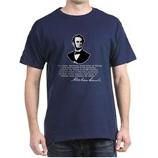 Remarkable Lincoln Law of the Land Quote T-Shirt