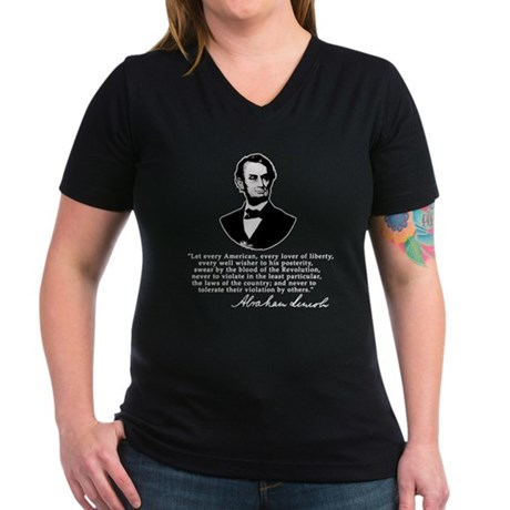 Remarkable Lincoln Law of the Land Quote Women's V