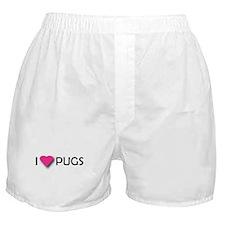 I LUV PUGS Boxer Shorts