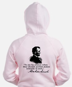 Lincoln to Sin by Silence Zip Hoodie