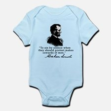 Lincoln to Sin by Silence Infant Bodysuit
