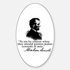 Lincoln to Sin by Silence Oval Decal