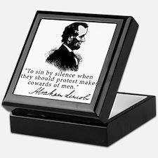 Lincoln to Sin by Silence Keepsake Box