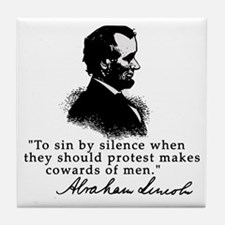 Lincoln to Sin by Silence Tile Coaster