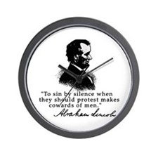 Lincoln to Sin by Silence Wall Clock