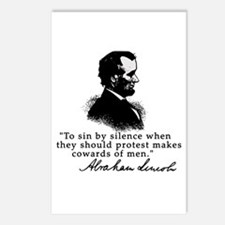 Lincoln to Sin by Silence Postcards (Package of 8)