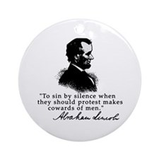 Lincoln to Sin by Silence Ornament (Round)